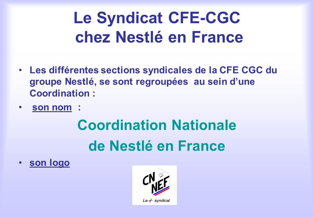 Le Syndicat CFE-CGC chez Nestlé en France