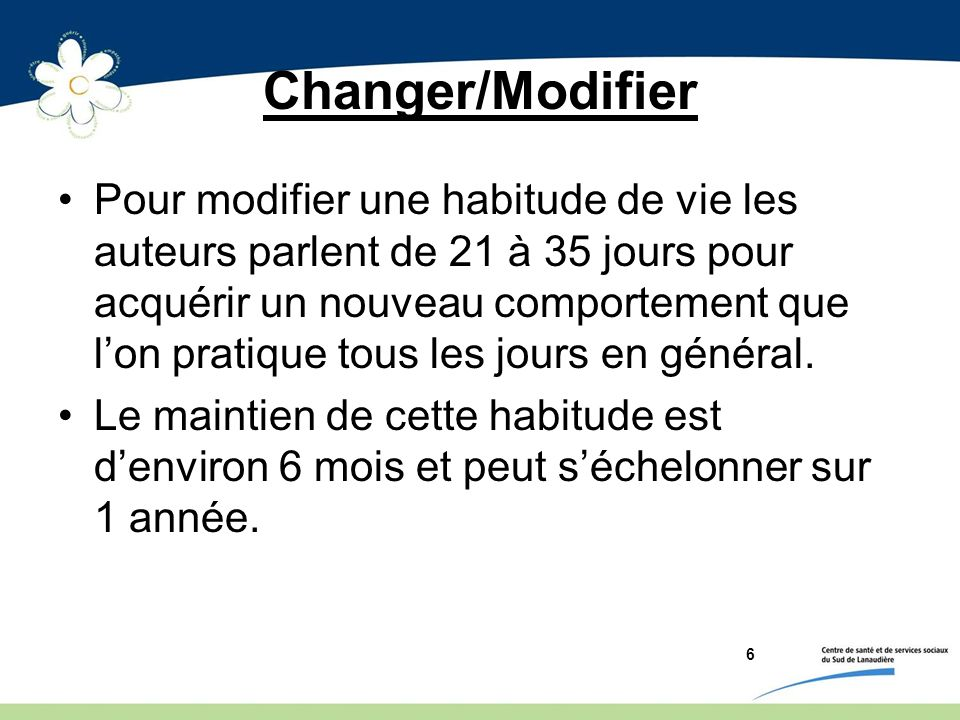 Changer/Modifier