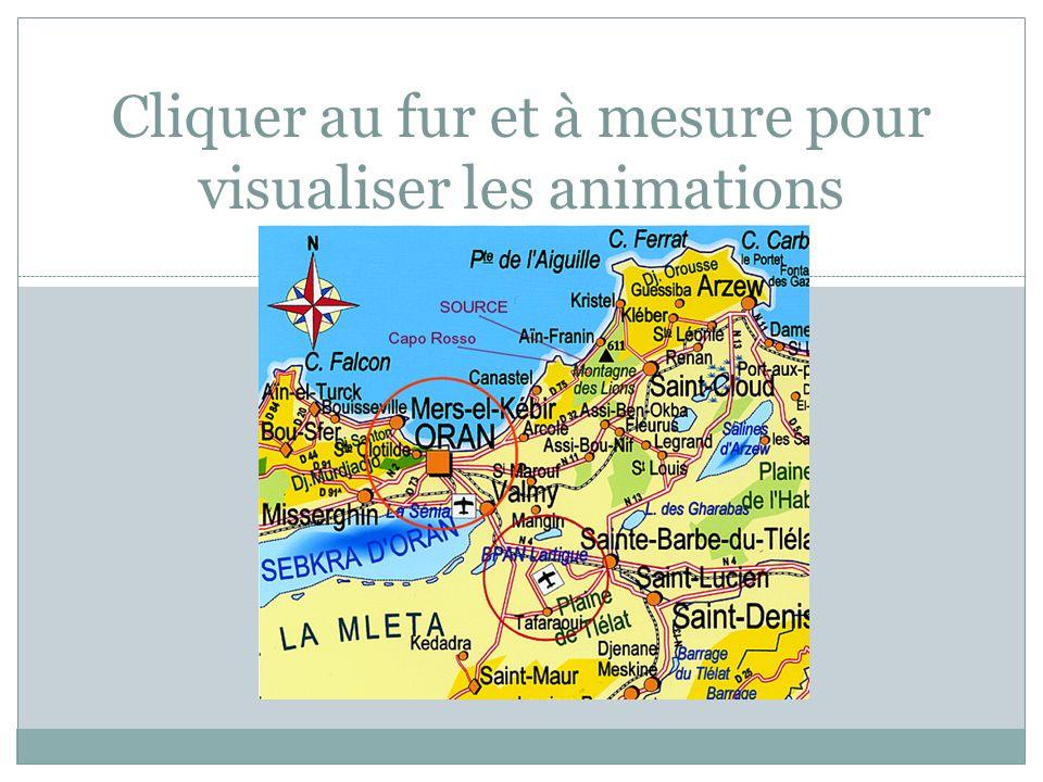 Cliquer au fur et à mesure pour visualiser les animations