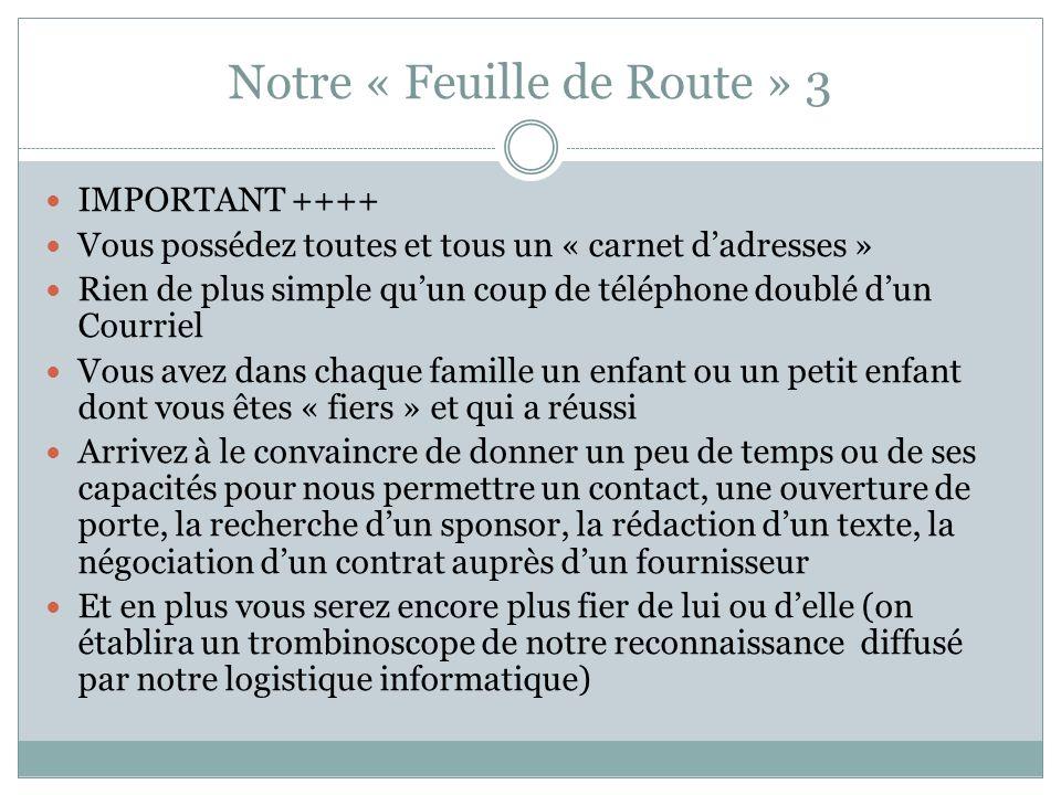 Notre « Feuille de Route » 3