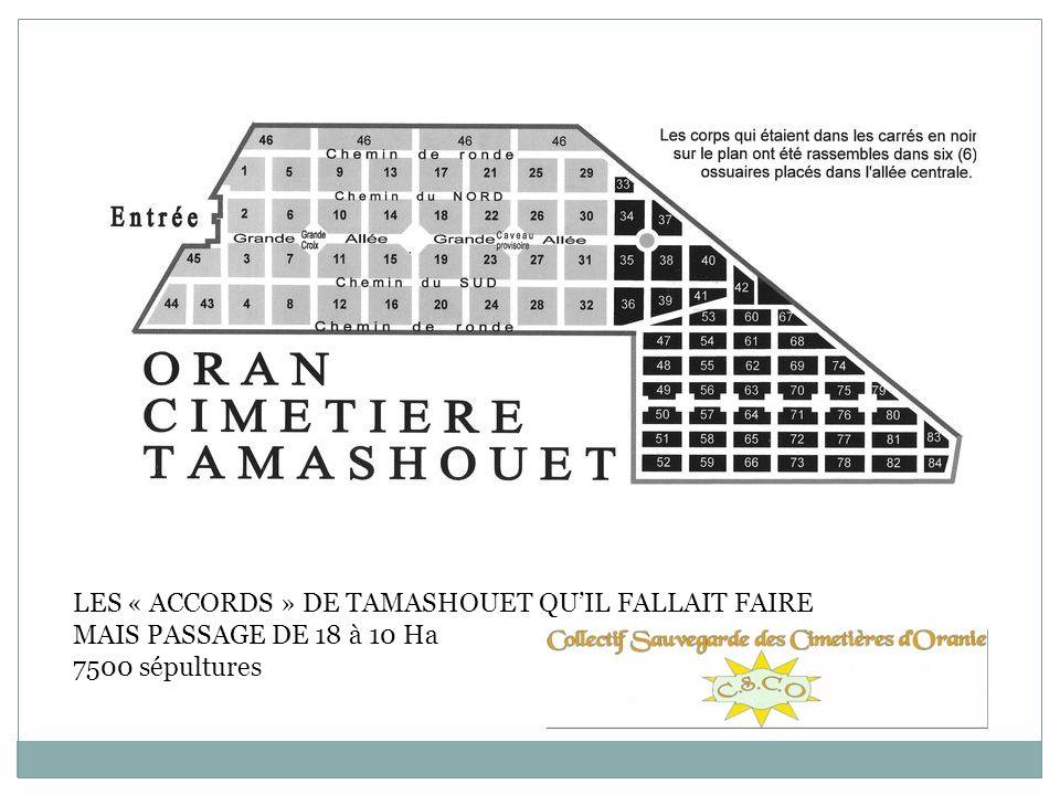 LES « ACCORDS » DE TAMASHOUET QU'IL FALLAIT FAIRE