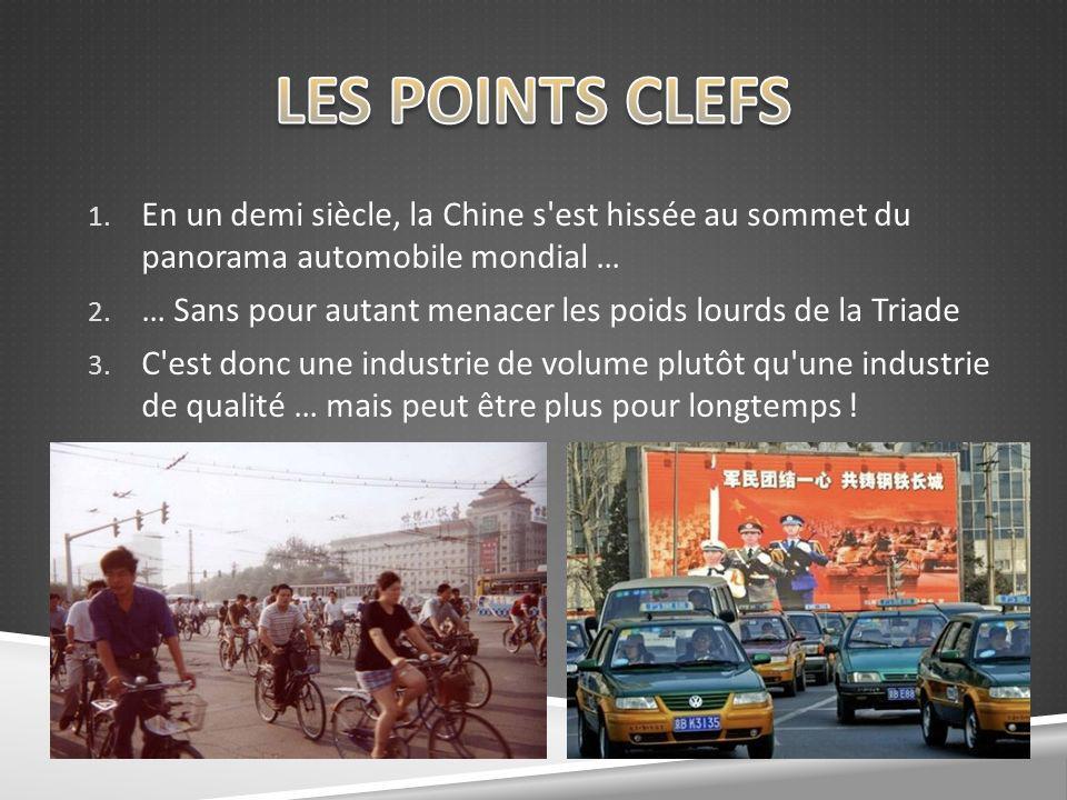 LES POINTS CLEFS En un demi siècle, la Chine s est hissée au sommet du panorama automobile mondial …