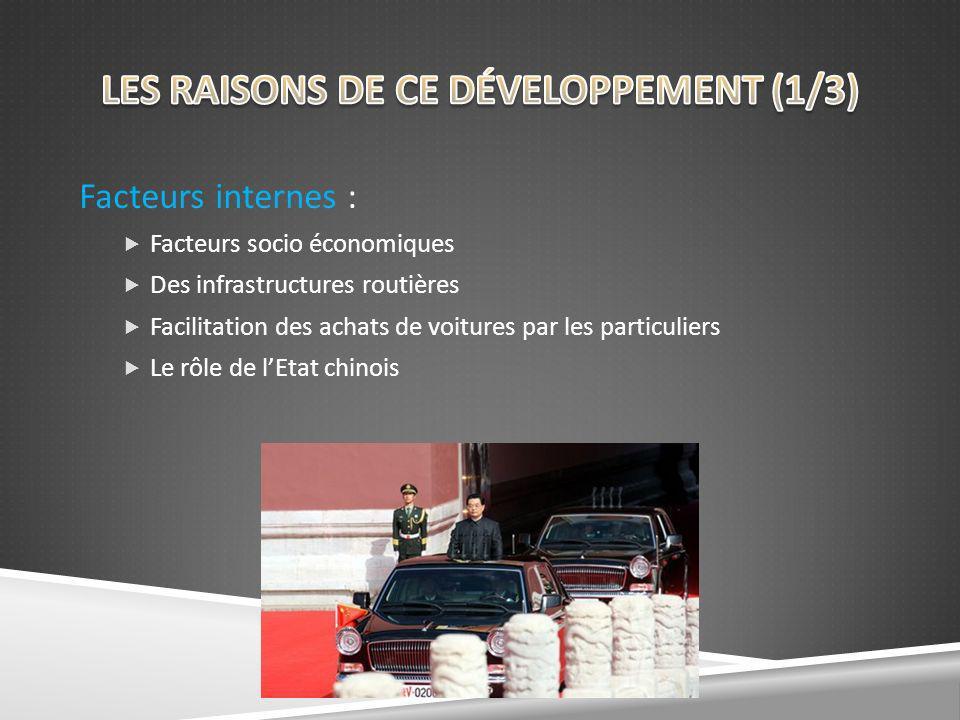 LES RAISONS DE CE DÉVELOPPEMENT (1/3)