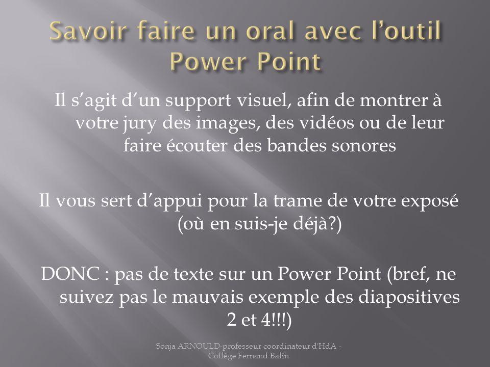 Savoir faire un oral avec l'outil Power Point