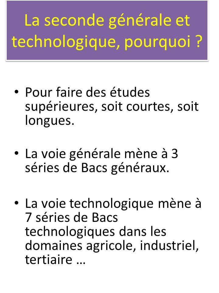 La seconde générale et technologique, pourquoi