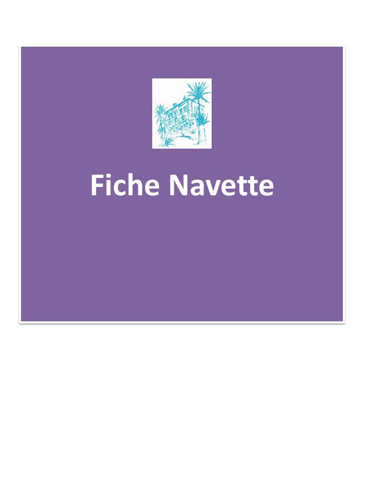 Fiche Navette