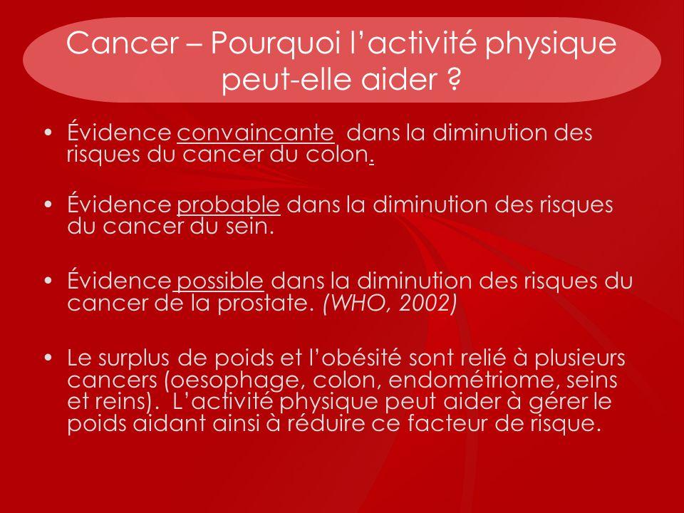 Cancer – Pourquoi l'activité physique peut-elle aider