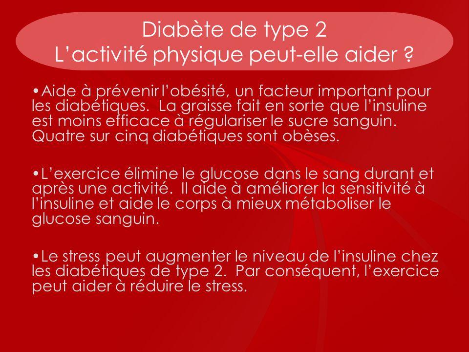 Diabète de type 2 L'activité physique peut-elle aider