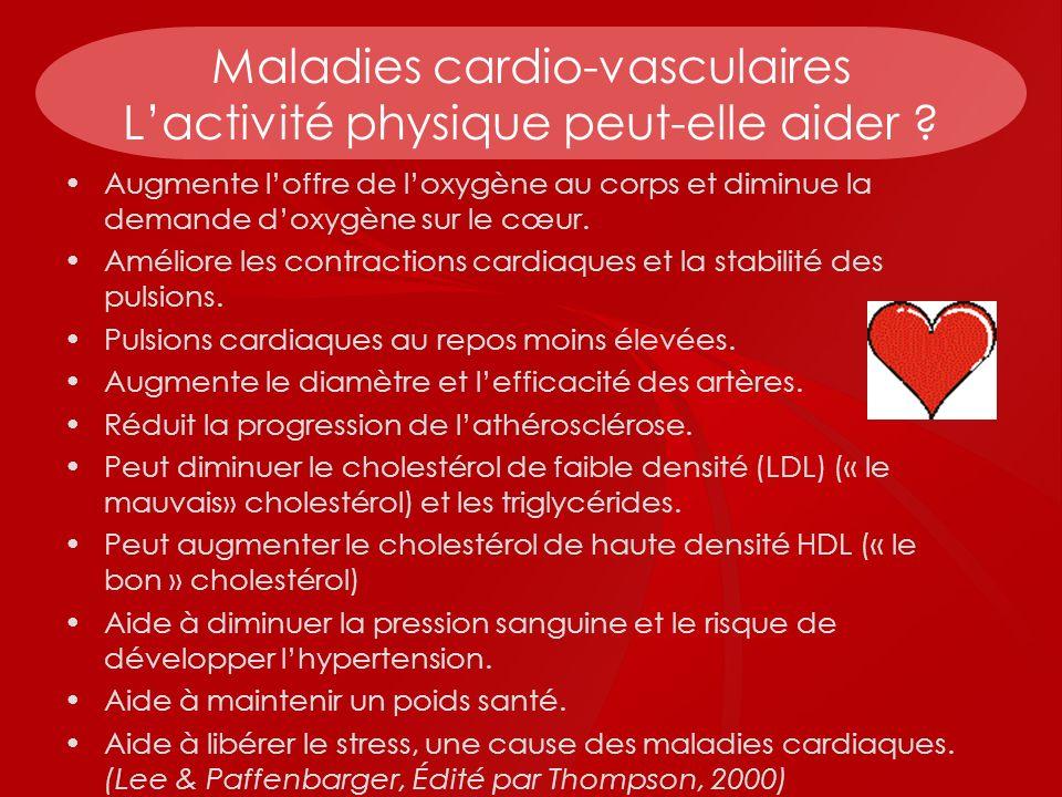 Maladies cardio-vasculaires L'activité physique peut-elle aider