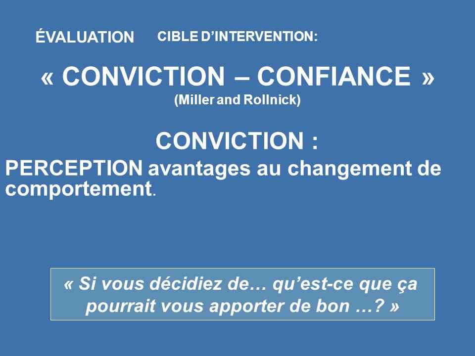« CONVICTION – CONFIANCE »