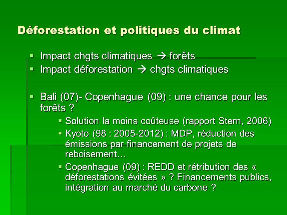 Déforestation et politiques du climat