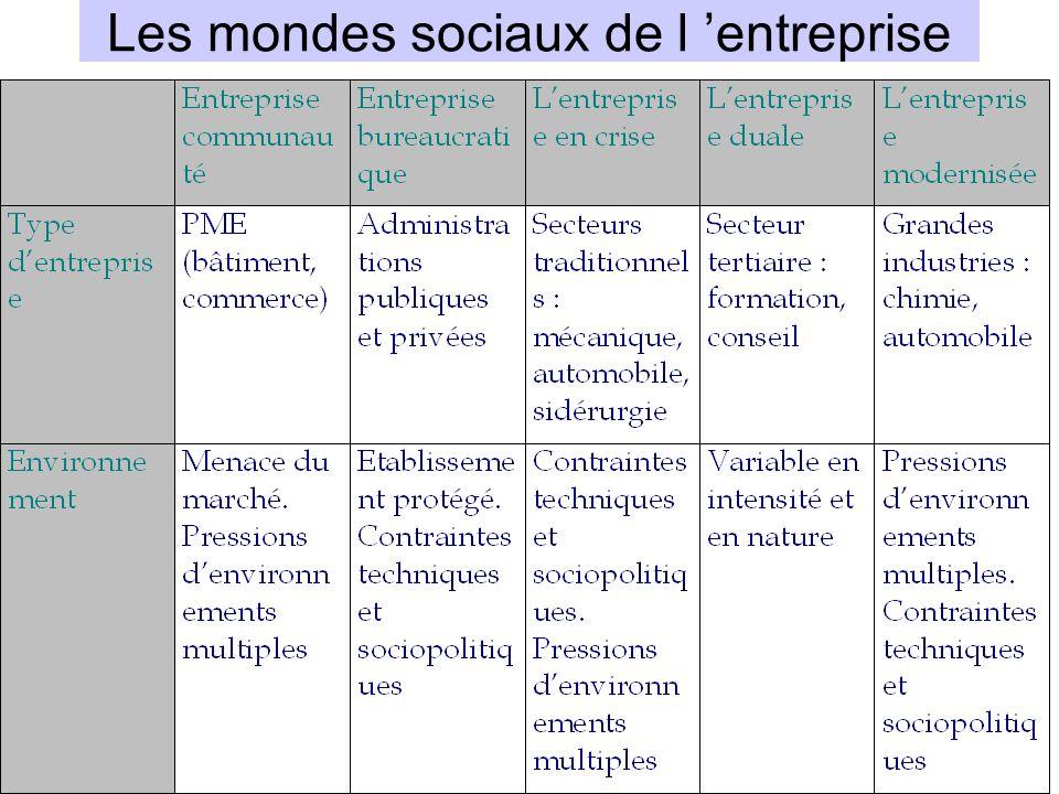 Les mondes sociaux de l 'entreprise