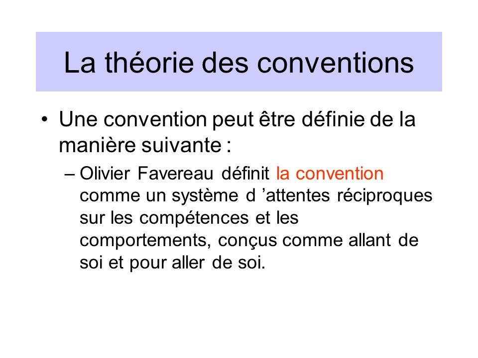 La théorie des conventions