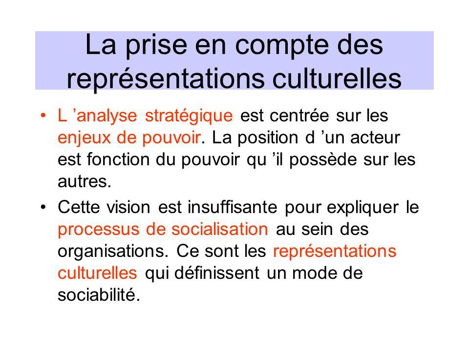La prise en compte des représentations culturelles