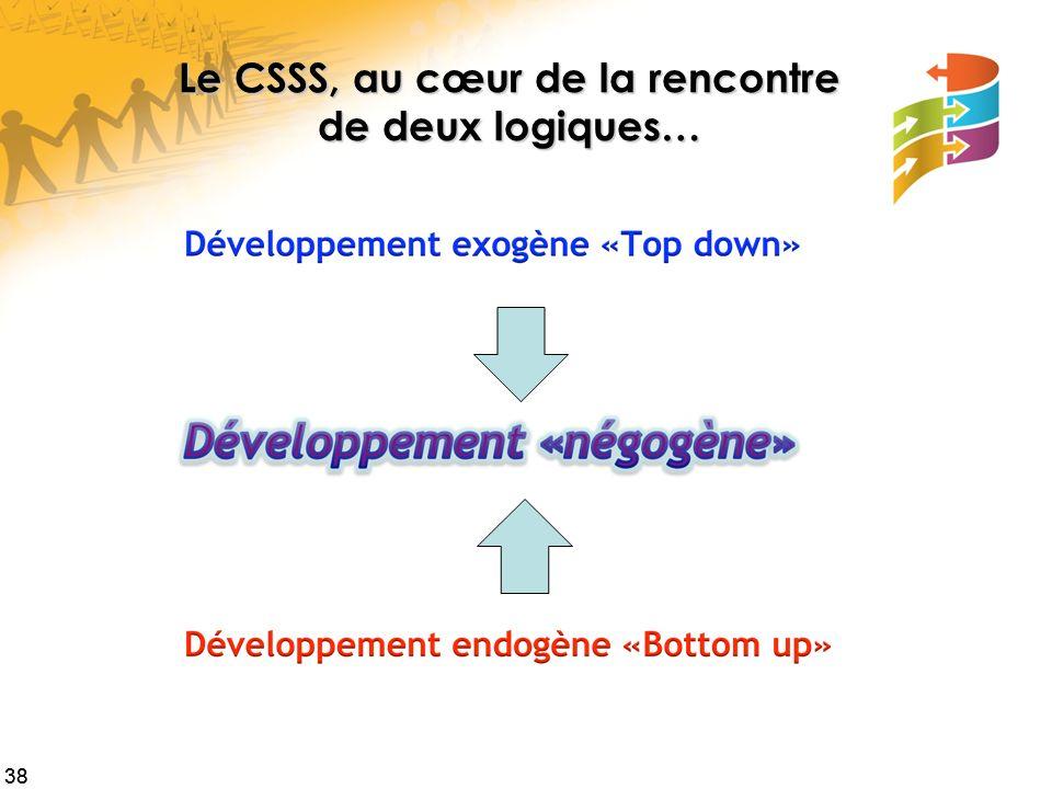 Le CSSS, au cœur de la rencontre de deux logiques…