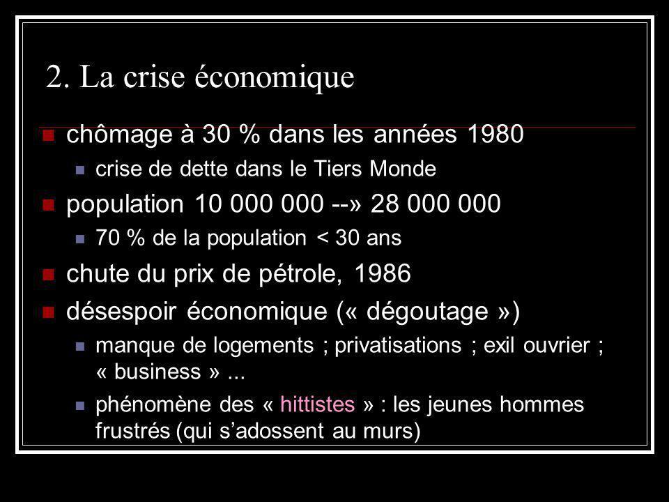 2. La crise économique chômage à 30 % dans les années 1980
