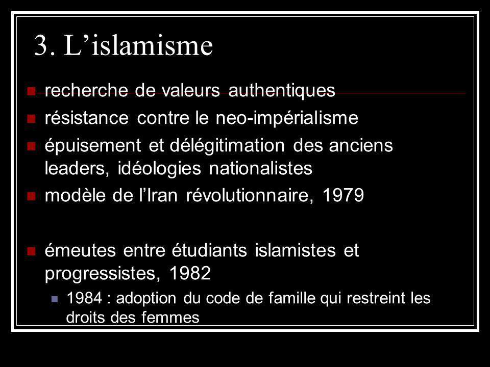 3. L'islamisme recherche de valeurs authentiques