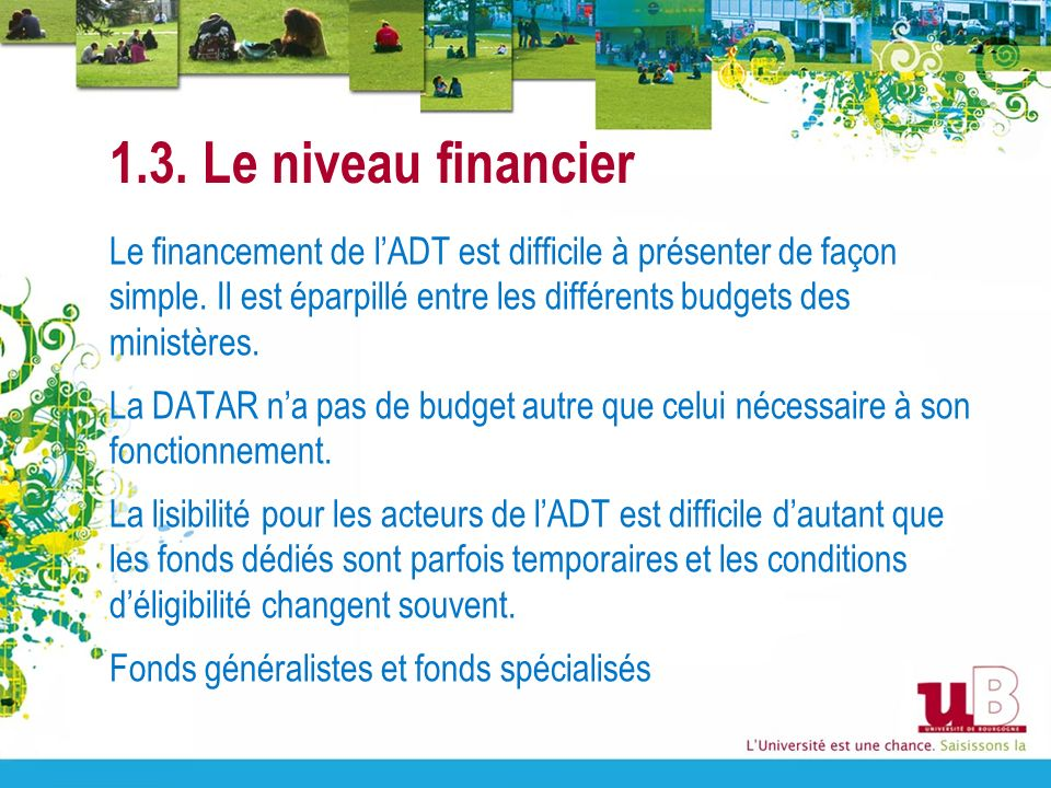 1.3. Le niveau financier
