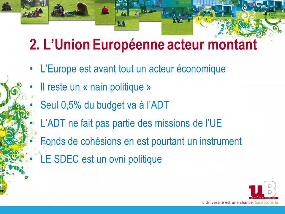 2. L'Union Européenne acteur montant
