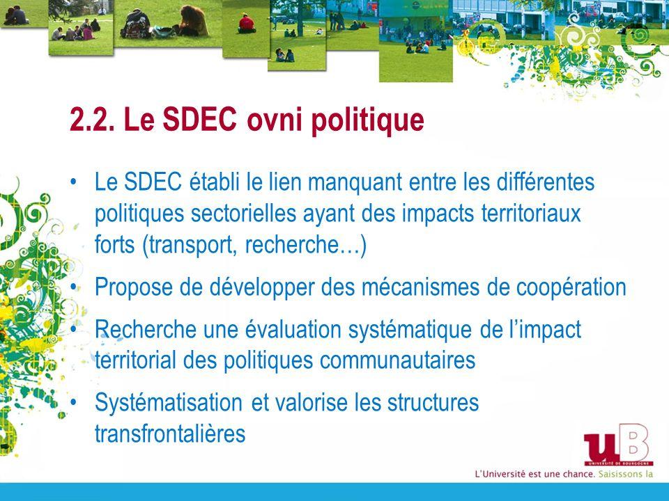 2.2. Le SDEC ovni politique