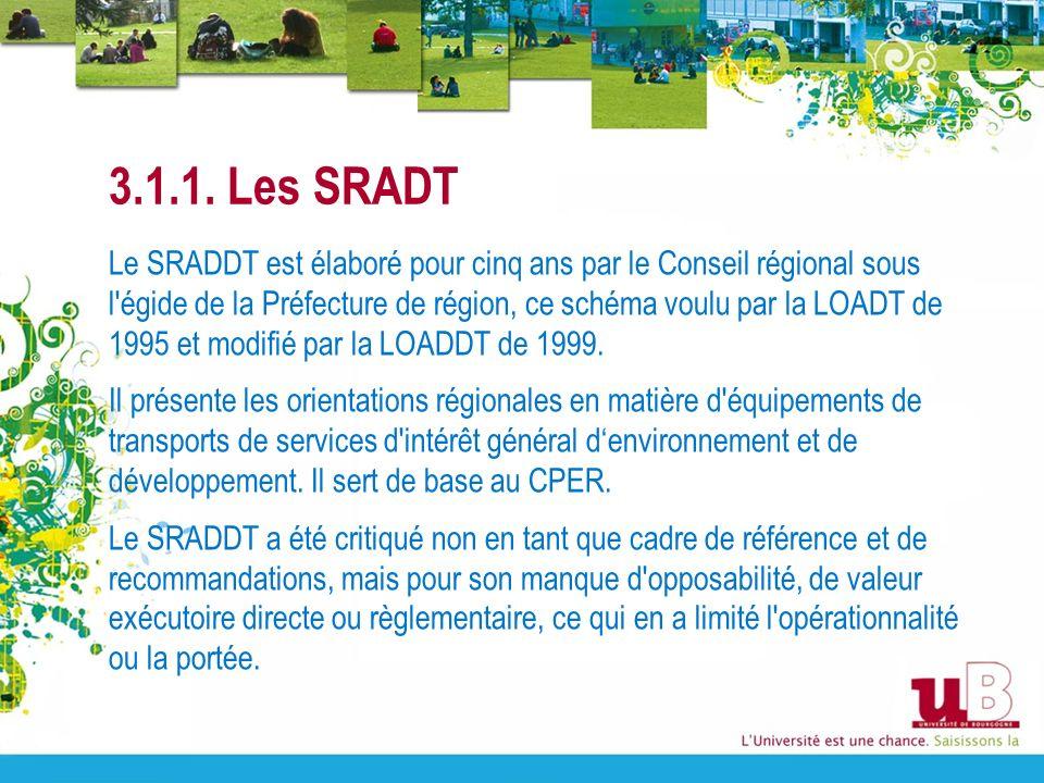 3.1.1. Les SRADT