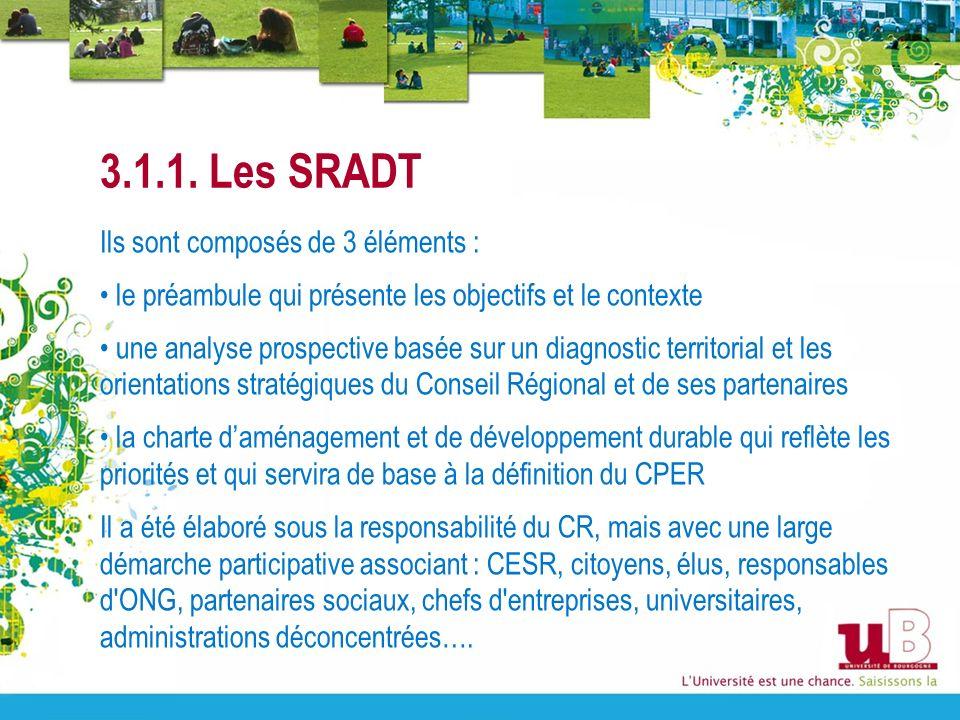 3.1.1. Les SRADT Ils sont composés de 3 éléments :