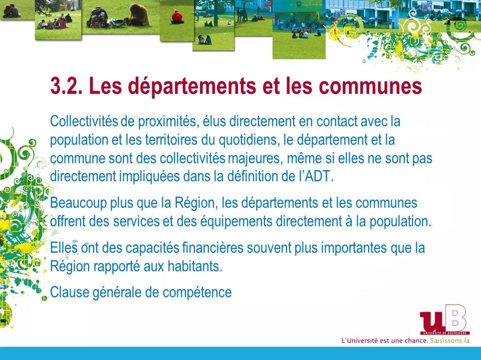 3.2. Les départements et les communes