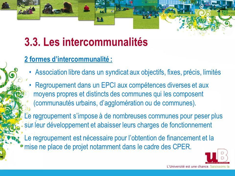 3.3. Les intercommunalités