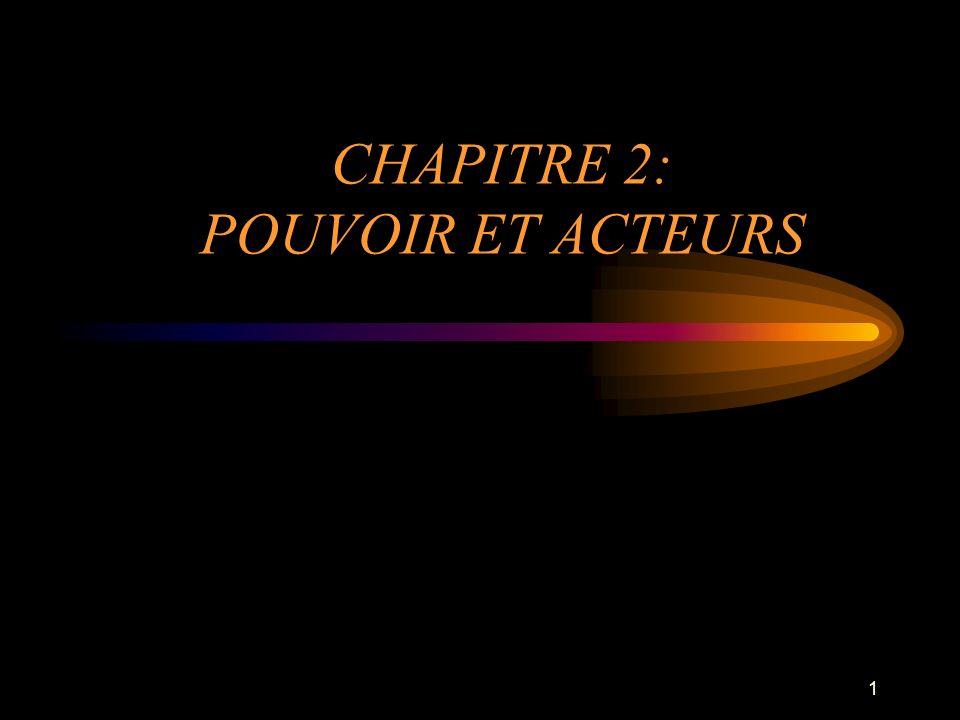 CHAPITRE 2: POUVOIR ET ACTEURS