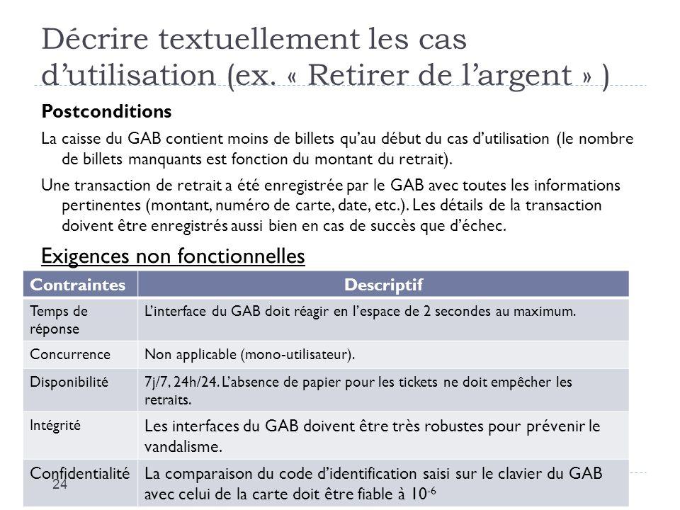 Décrire textuellement les cas d'utilisation (ex
