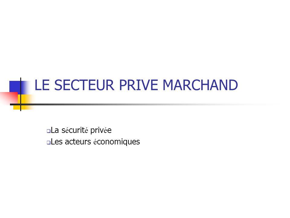LE SECTEUR PRIVE MARCHAND