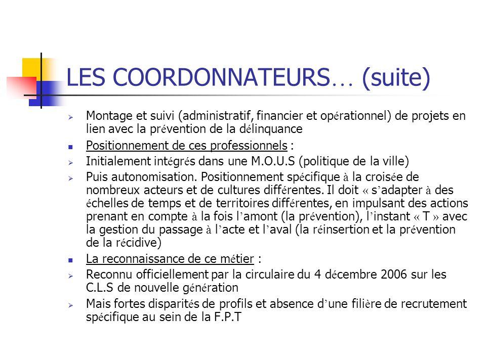 LES COORDONNATEURS… (suite)