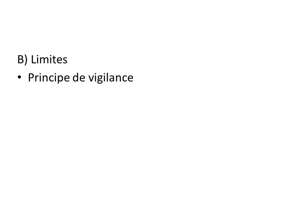 B) Limites Principe de vigilance