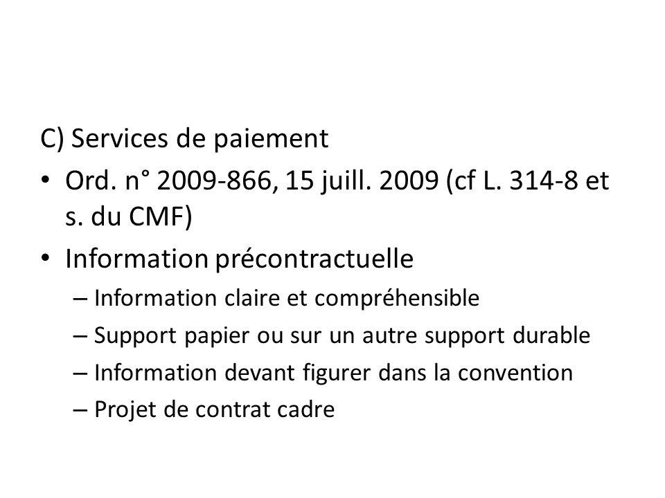 C) Services de paiement