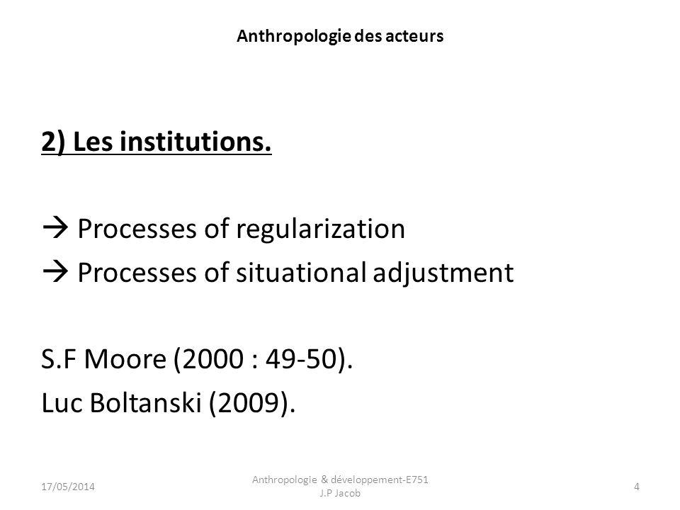 Anthropologie des acteurs