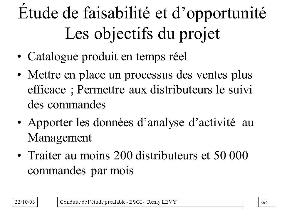 Étude de faisabilité et d'opportunité Les objectifs du projet