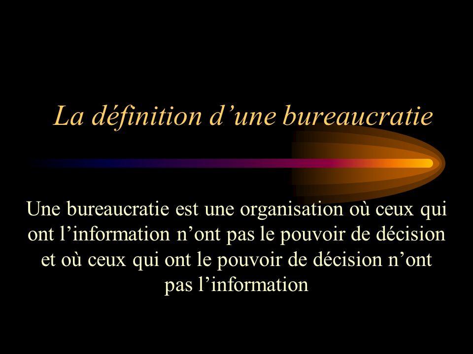 La définition d'une bureaucratie