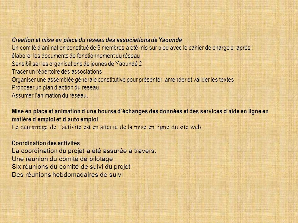 Création et mise en place du réseau des associations de Yaoundé