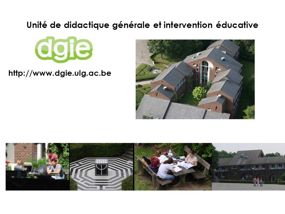 Unité de didactique générale et intervention éducative