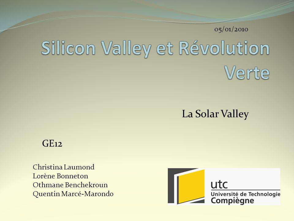 Silicon Valley et Révolution Verte