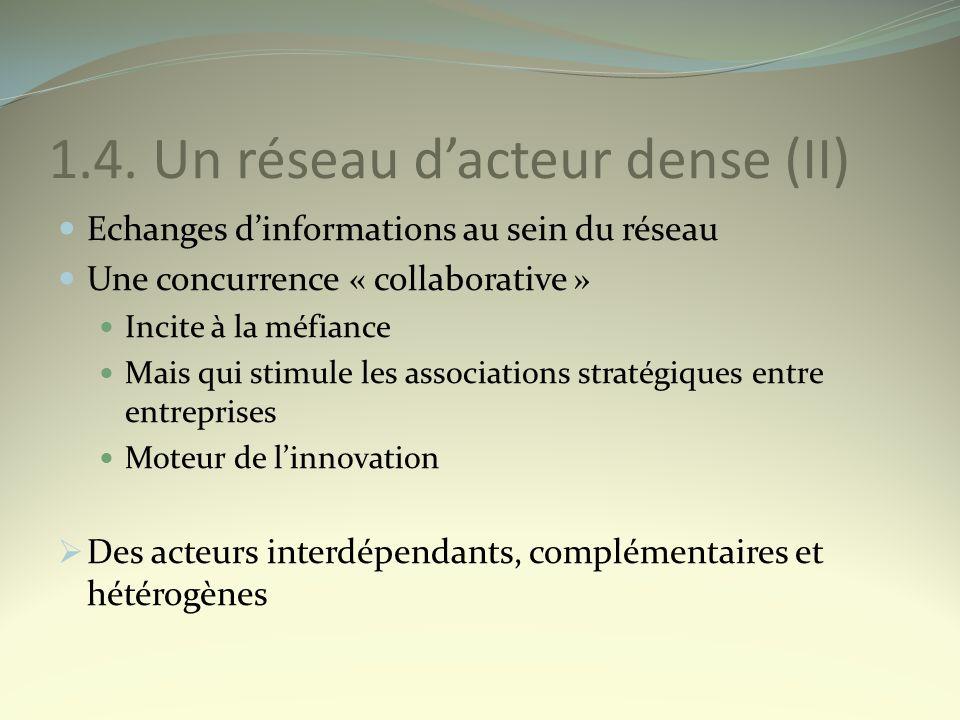1.4. Un réseau d'acteur dense (II)