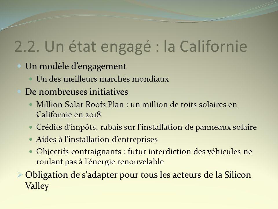 2.2. Un état engagé : la Californie