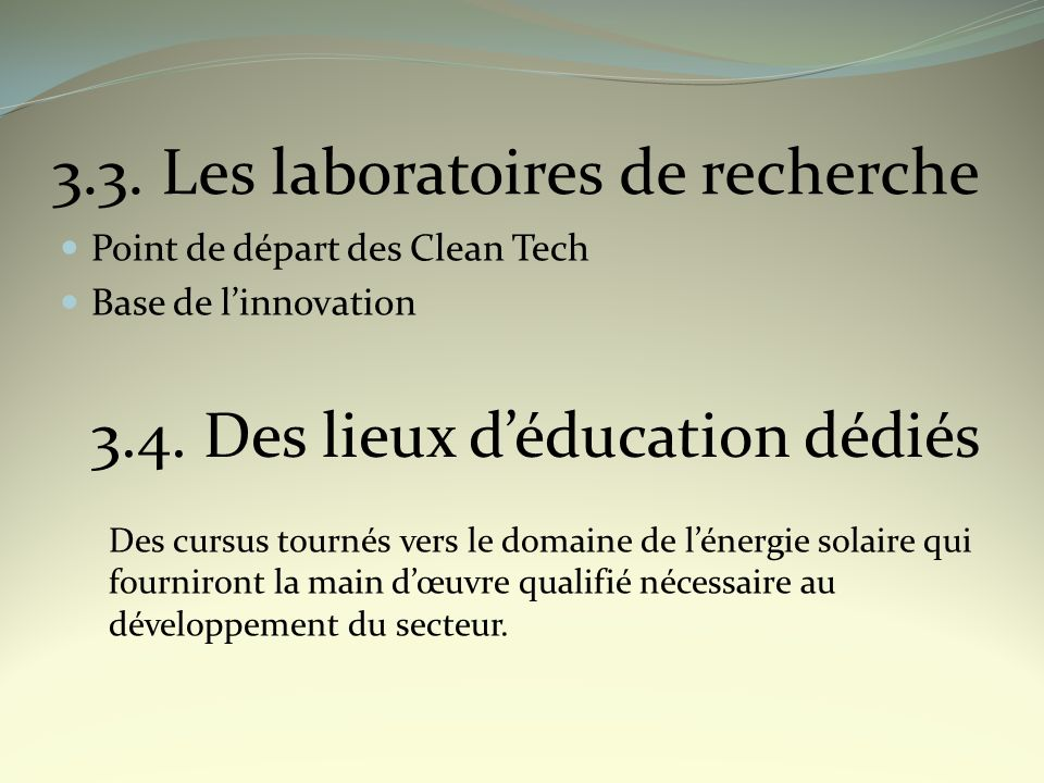 3.3. Les laboratoires de recherche