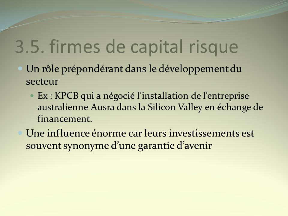 3.5. firmes de capital risque
