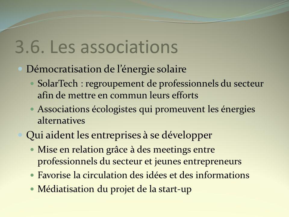 3.6. Les associations Démocratisation de l'énergie solaire