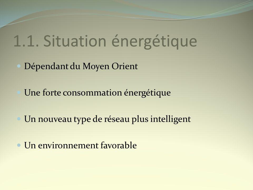 1.1. Situation énergétique