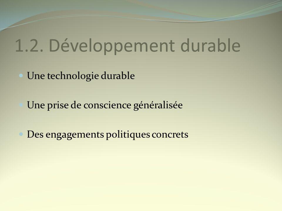 1.2. Développement durable