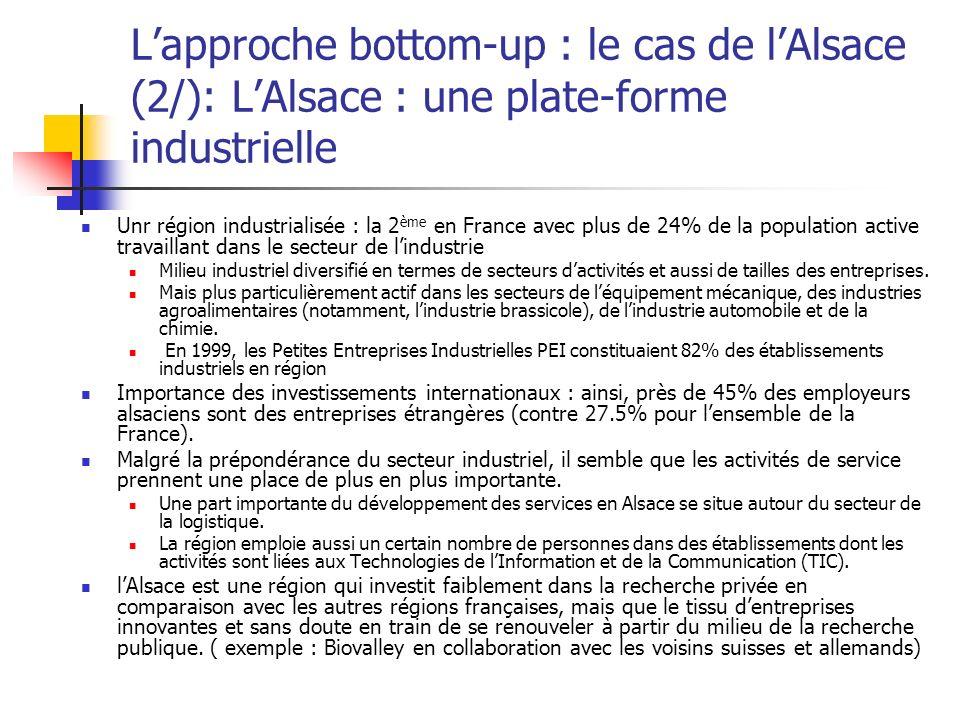 L'approche bottom-up : le cas de l'Alsace (2/): L'Alsace : une plate-forme industrielle