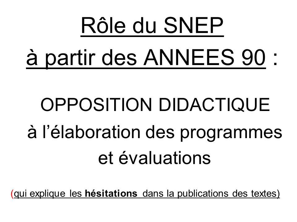 OPPOSITION DIDACTIQUE
