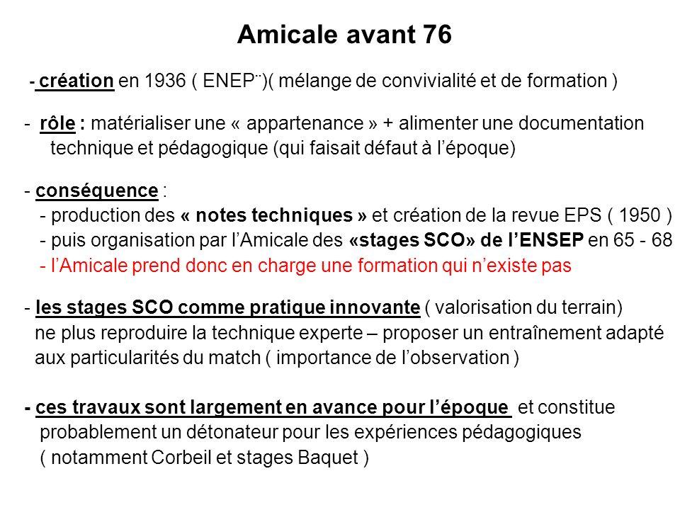 31/03/2017 Amicale avant 76 - création en 1936 ( ENEP¨)( mélange de convivialité et de formation )